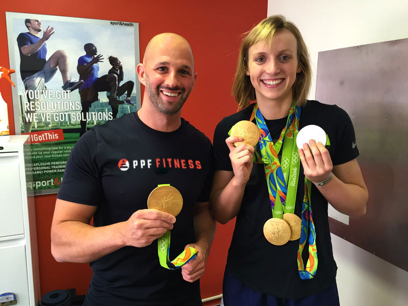 Lee Sommer and Katie Ledecky